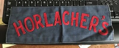 Rare Vintage Horlacher Beer Large Size Uniform Employee Patch Allentown Pa