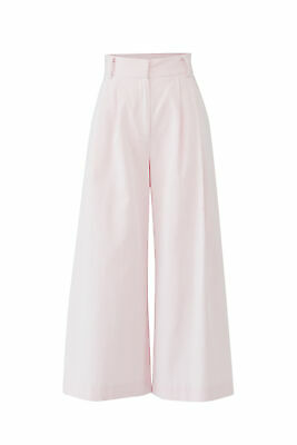 Milly Women's Pants Pink White Size 4 Seersucker Stripe Cullotes $365- #191