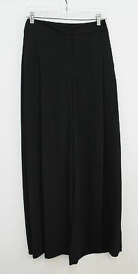 OUTLINE Ladies Black High Waisted Wide Leg District Trousers UK8 W26 L33 BNWT