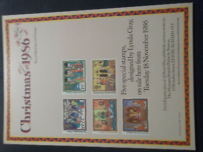 Royal Mail A4 Post Office Poster 1986 Christmas Glastonbury Thorn Boy Bishop