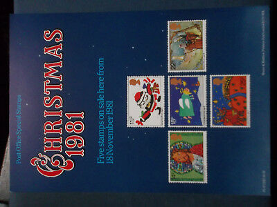 Royal Mail A4 Post Office Poster 1981 Christmas