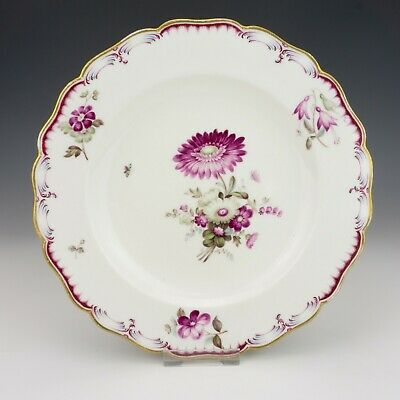 Antique Paris French Porcelain - Hand Painted Flower Decorated Plate - Lovely!