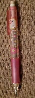 Hello Kitty Sanrio 2014 Plaid Pink Mechanical Pencil 0.5 mm lead Great Condition