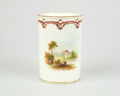 Antique 19th century hand painted porcelain vase. English French