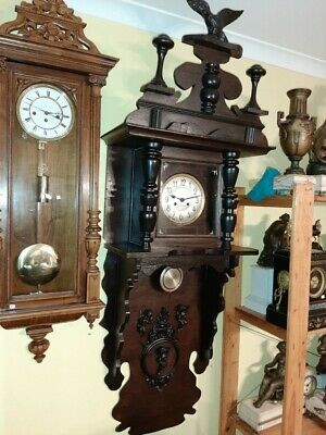 Antique SIGNED giant clock 150 cm PARSLOW GASTON in the original case.