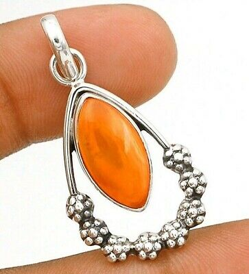 Natural Carnelian 925 Solid Sterling Silver Pendant Jewelry EA19-8