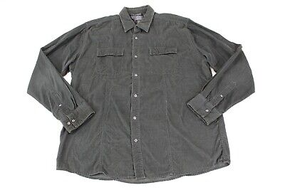 Joe Joseph Abboud Men's Corduroy Button Down Shirt Black Size XL