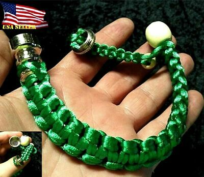 9.5 Inch Green Bracelet Hidden Tobacco Smoking Pipe & Screens USA Seller