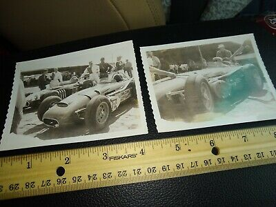 Lot Of 2 Vintage Racing Photographs Race Car Indy John Zink B/W Black White