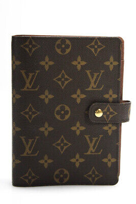 Louis Vuitton Coated Canvas Six Ring Agenda Planner Brown