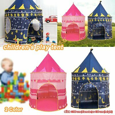 Childrens Kids Baby Pop Up Play Tent Fairy Girls Boys Playhouse Outdoor G5