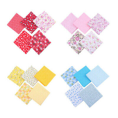 5Pcs 50*50cm Mixed Pattern Cotton Fabric Sewing Quilting Patchwork Crafts DIY