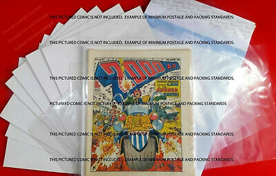2000AD Judge Dredd Prog comic BAGS/Sleeves +BOARDS for your issues x10 Storage.