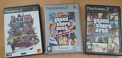 Lotto 3 Grand Theft Auto GTA III VICE CITY SAN ANDREAS PLAY STATION 2 PS2 SONY