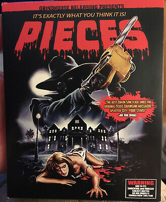 PIECES Blu Ray + CD 3 Disc Set rare Horror Slasher Grindhouse Releasing OOP SLIP