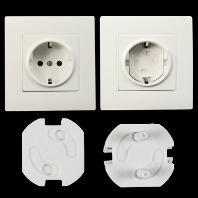 Baby Safety Rotate Round Cover Plastic Security Locks Electric Protection Socket
