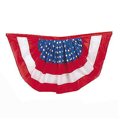 HEAVY DUTY JULY 4TH EMBROIDERED 4/'X2/' PATRIOTIC AMERICAN FLAG BUNTING  JULY 4TH