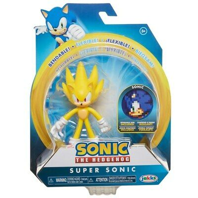 Sonic The Hedgehog 4-Inch Wave 2 Bendable Figure - Super Sonic *BRAND NEW*