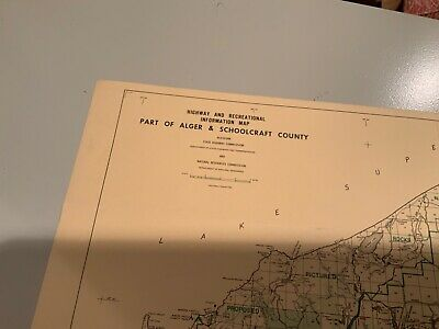 1974 Iosco County Michigan DNR Highway & Recreation Information Map