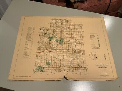 Vintage 1973 Lapeer County Michigan DNR Highway & Recreation Information Map
