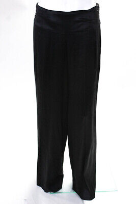 Marc Bouwer Glamiti Women's Wide Leg Side Zip Pants Silk Black Size 4
