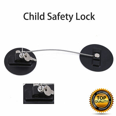 Baby Child Safety Cupboard Locks Kid Proof Door Fridge Latches Pack of 1x 2x