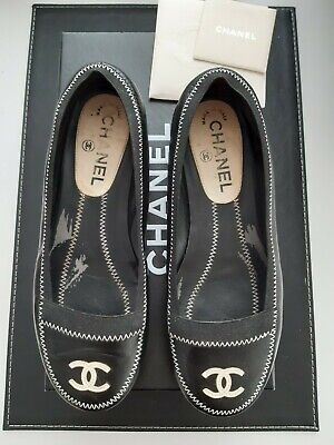 Limited Edition Authentic Chanel Flats Ballet Shoes Size 36 Rare Item