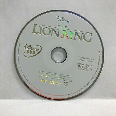 2019 Disney The Lion King Live Action Movie DVD Disc Only
