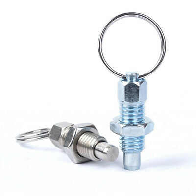 Retractable Spring Plunger Indexing Plunger Lock Ring Pin, Steel