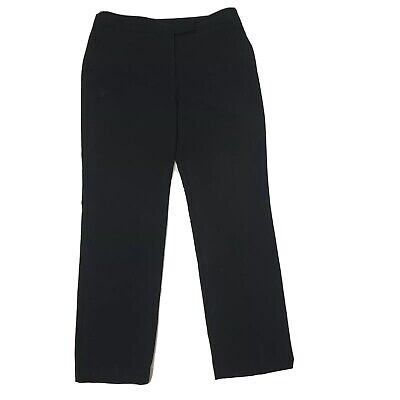 CHARTER CLUB Solid All Black Full Length Allison Fit Pants Womens Size 12