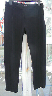 Hobbs London black casual stretch trousers size 12