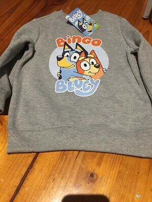 Bingo Bluey Kids Boys Crew Neck Sweatshirt top New with tags sizes 3-4 ABC Kids