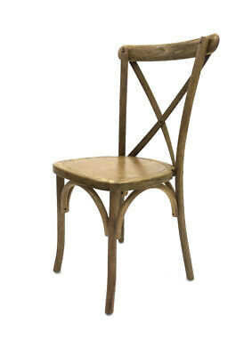 Oak Wooden Traditional Cross Back Chair, Rustic Wedding Chair, Shabby Chic