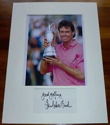 IAN BAKER-FINCH-A Hand Signed Card,Presented With A Photo-Mounted & Matted,COA