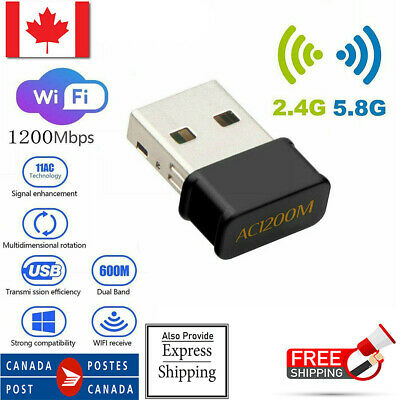 USB 3.0 Dongle Wifi Adapter Dual Band Wireless AC Desktop network card 1200Mbps
