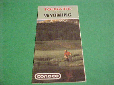 1971 Touraide Road Map Of Wyoming Conoco Advertisement