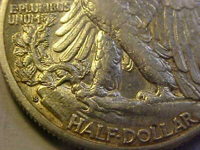 1929 S Walking Liberty Half Dollar  Scarce  Date Xf /Au Rare Coin