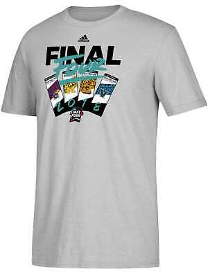 2018 NCAA Final Four March Madness Basketball Tickets Gray Adidas T-Shirt (2XL)