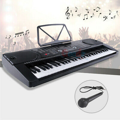 Digital Piano Music Keyboard - Portable Electronic Instrument with Mic - 61 Key