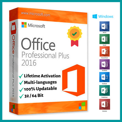Microsoft Office 2016 Professional Plus Instant Delivery MS Office 2016 Pro