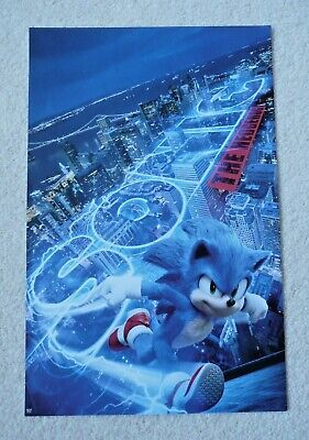 """SONIC The Hedgehog 2020 Double Sided Original Movie Poster 11"""" x 17"""""""