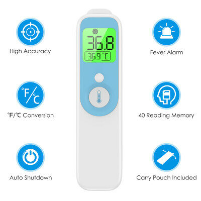 1*No-touch Contact Infrared Digital LCD Baby Adult Forehead Ear Body Thermometer