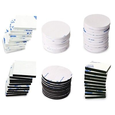 50x Double Sided Sticky Pads Black  White Strong Adhesive Foam Pads 3M Good GREA