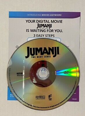 JUMANJI THE NEXT LEVEL DVD Disc + Digital Copy (DC) Only Movies Anywhere No Case