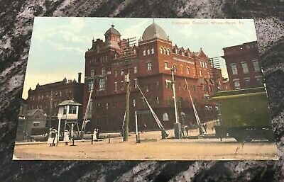 Pre-Pro Stegmaier Beer - Brewing Co Brewery Scene Postcard Wilkes Barre Pa