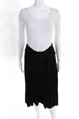 Stella McCartney Womens Knee Length A Line Skirt Black Embroidered Size S