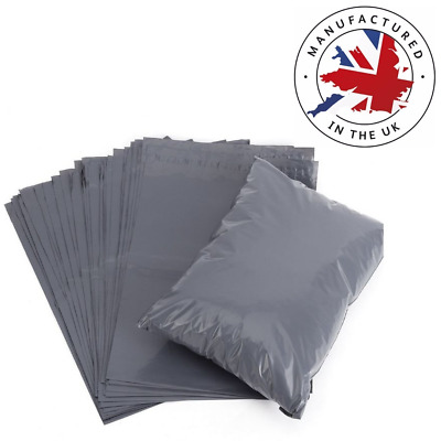 "2000 x Grey Poly Postal Mailing Bags 17"" x 24"""