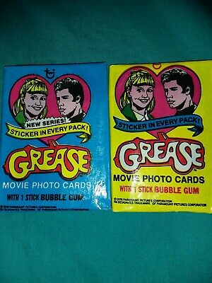 Grease Series 1 and 2 Vintage Wax Pack Trading Cards 1978 Sealed