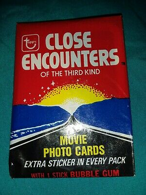 Close Encounters of the Third Kind Vintage Wax Pack Trading Cards 1978 Sealed