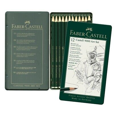 Faber-Castell 9000 Graphite Pencil Set  - 12-Pencil Set